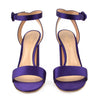 Gianvito Rossi Purple Satin Sandals sz 38.5