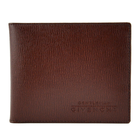 Givenchy Brown Leather Bifold Men's Wallet