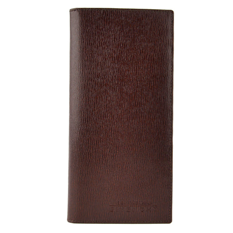 Givenchy Mahogany Brown Leather Bifold Long Men's Wallet