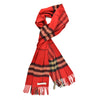 Burberry Classic Red Cashmere Nova Check Scarf