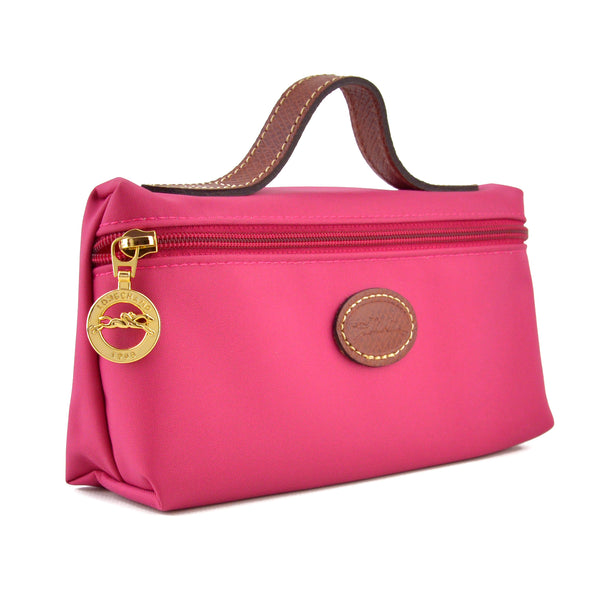 Longchamp Le Pliage Small Fuchsia Pink Clutch - Cosmetics Pouch