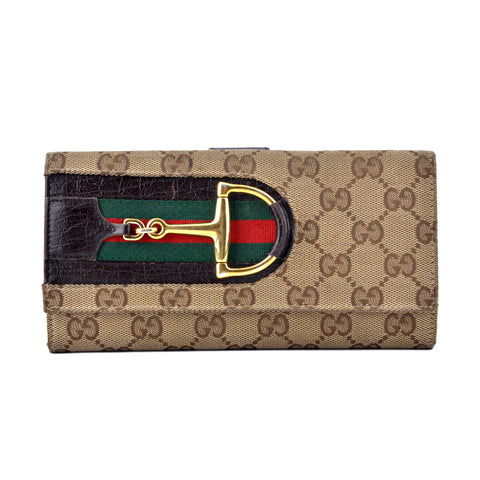 Gucci GG Monogram Canvas Horsebit Continental Wallet