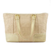 Coach Natural Signature Canvas & Metallic Gold Poppy Tote Bag