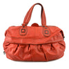 BCBG Vermillion Red Leather Shoulder Bag & Satchel