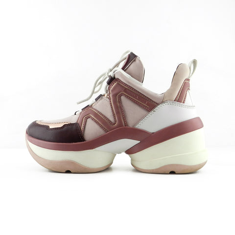 Michael Kors Pink & Plum Bulky Lace Up Sneakers sz 7