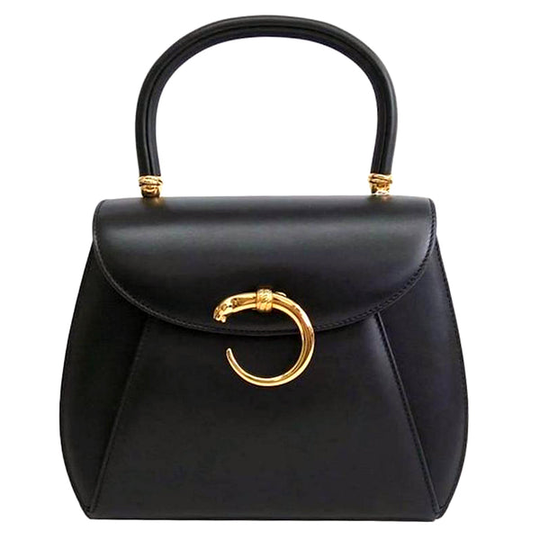 Cartier Panthere Loop Lock Black Kelly Satchel