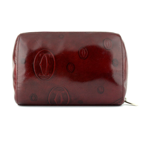 Cartier Happy Birthday Patent Cosmetics Zip Pouch