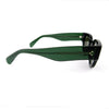 Celine Thick Frame Dark Green Cat Eye Sunglasses