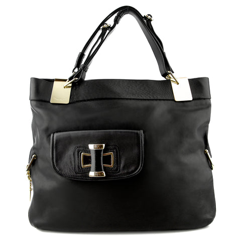 Cesare Paciotti Expandable Leather Shoulder Bag