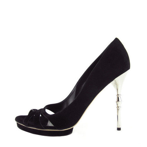 Gucci Suede Metal-Heel Pumps 39