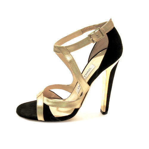 Jimmy Choo Metallic Gold Strap Sandals