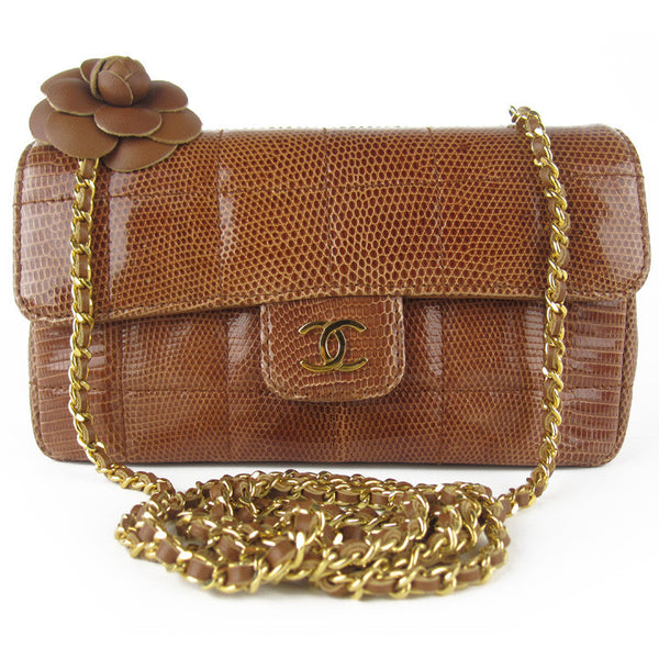 Chanel Camellia Flower Exotic Mini Flap