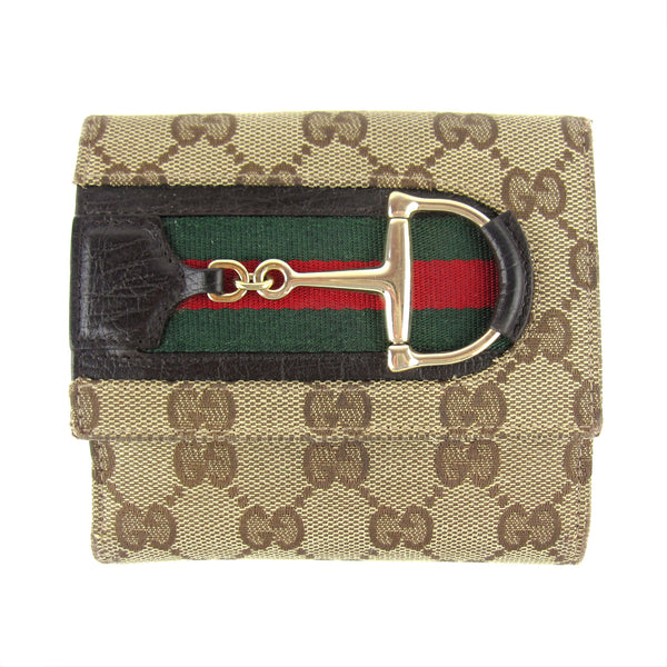 Gucci Monogram Horsebit Bifold Wallet