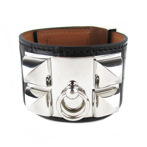 Hermes Alligator Collier de Chien Cuff