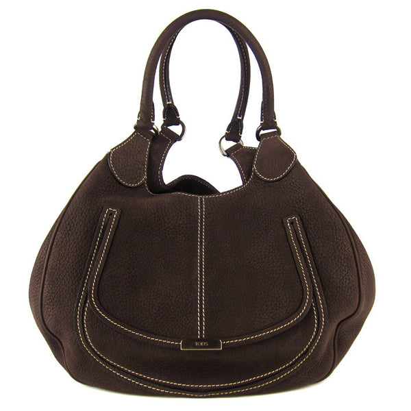 Tod's Peggy Brown Nubuck Hobo
