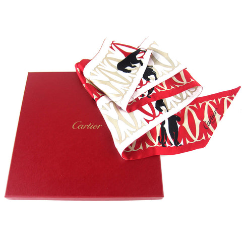 Cartier CC Signature Panther Long Scarf