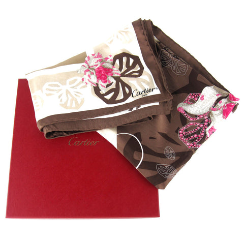 Cartier Flowers Square Silk Scarf