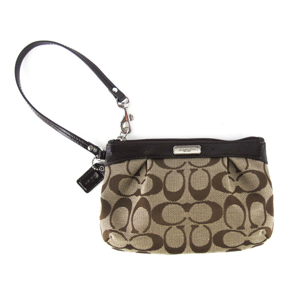 Coach Canvas Wristlet Clutch