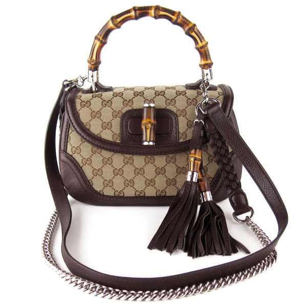 Gucci Bamboo Handle Three-Way Bag