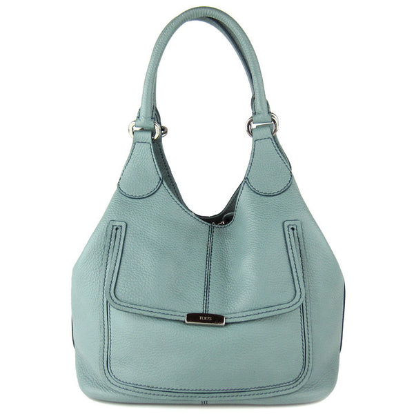 Tod's Peggy Opal Blue Leather Hobo