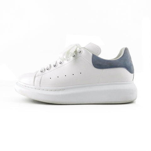 Alexander McQueen White Leather Platform Sneakers sz 38 / 8