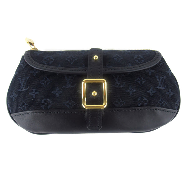 Louis Vuitton Navy Mini Lin Clutch
