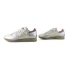 Philippe Model Silver Pearlescent Coated Canvas Sneakers sz 38 / 8