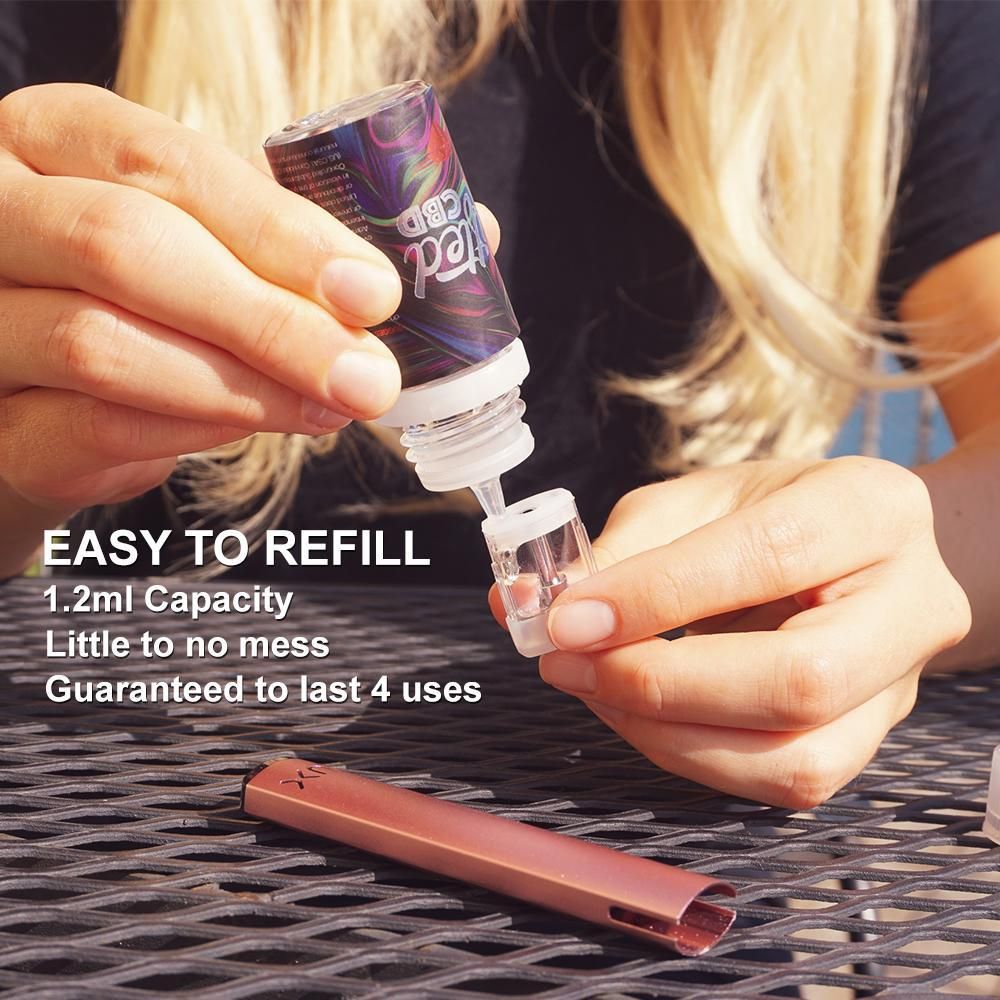 Lux Vape Pen Kit with Refillable Pods by Wellon (4 Colors)