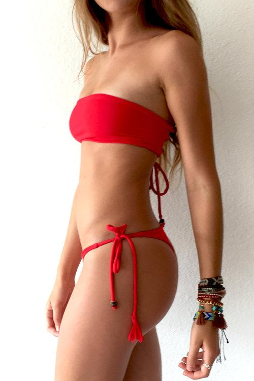 Bandeau Bikini Top In Red