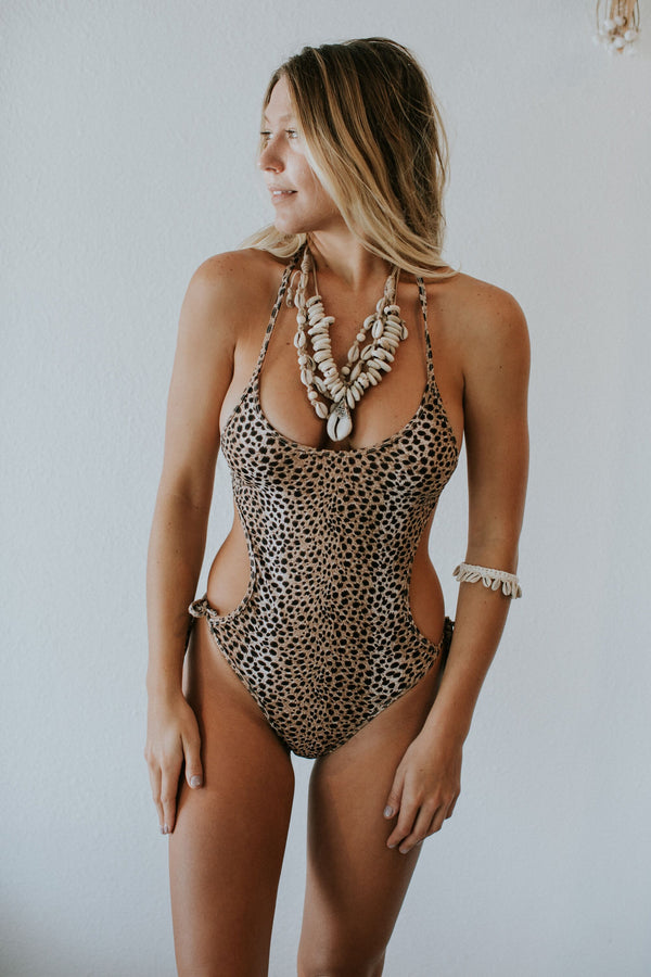 Ray One Piece in Animal Print