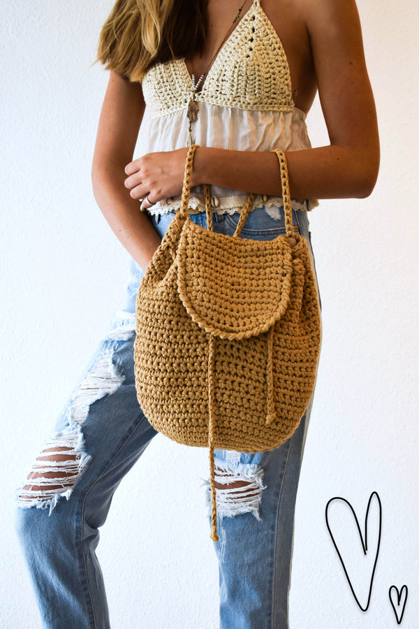 Alaia Crochet backpack