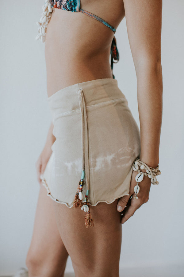Catalina Mini Skirt in Sand Tie Dye