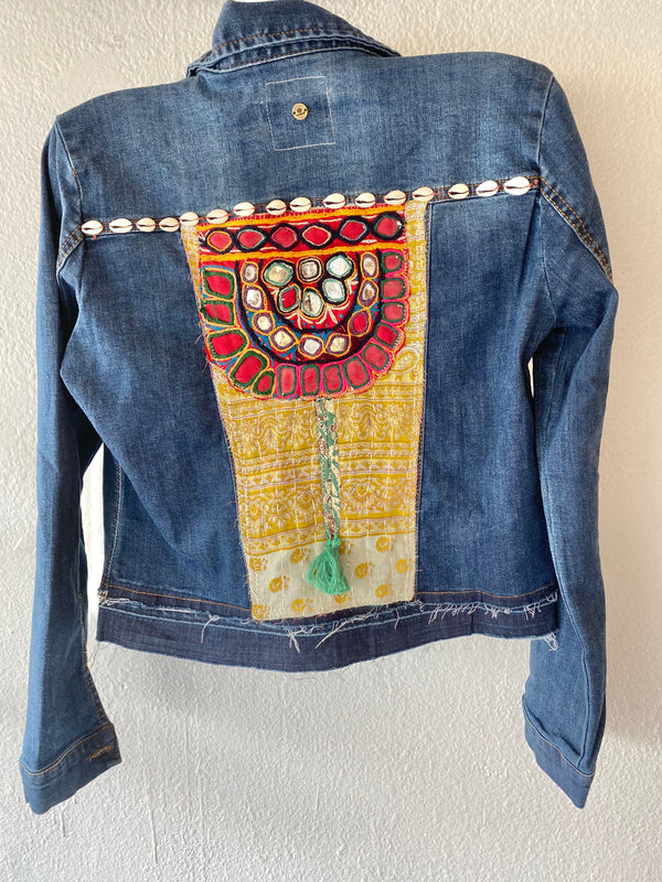 Up cycled jean jacket