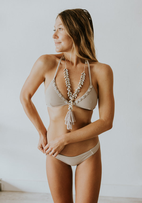 Sunset Hannah Bikini Top with shells