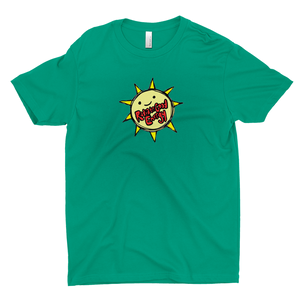 Ungodly! Things: Radiate Good Energy Happy Smile Sun Kelly Green T-shirt