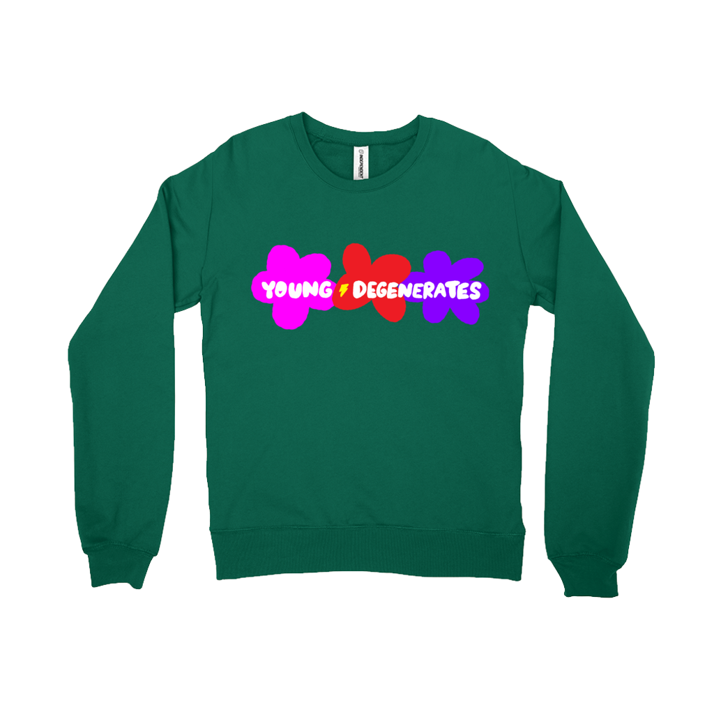Ungodly! Things: Young Degenerates Green Sweater Sweatshirt