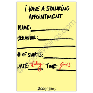 Ungodly! Things: I Have a Spanking Appointment Collectible Card (One-Sided, 4 x 6 inch)