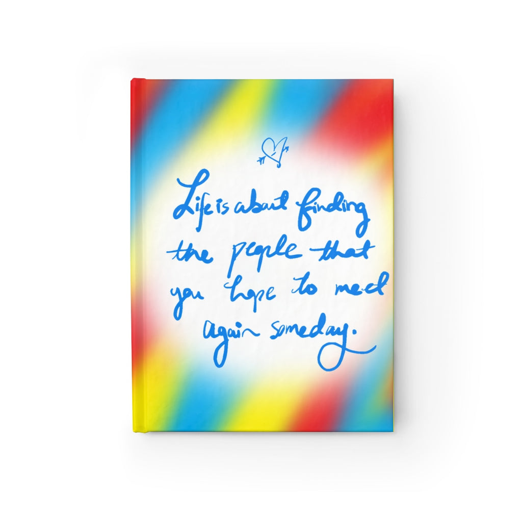 People Meaning of Life Hardcover Lined Ruled Journal Notebook Diary Book - Ungodly! Things