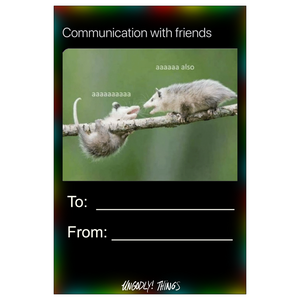 Ungodly! Things: aaaaaa Communication with Friends Collectible Card (One-Sided, 4 x 6 inch)