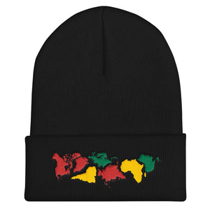Ungodly! Things: Pangea World Map Continents Embroidered Cuffed Beanie