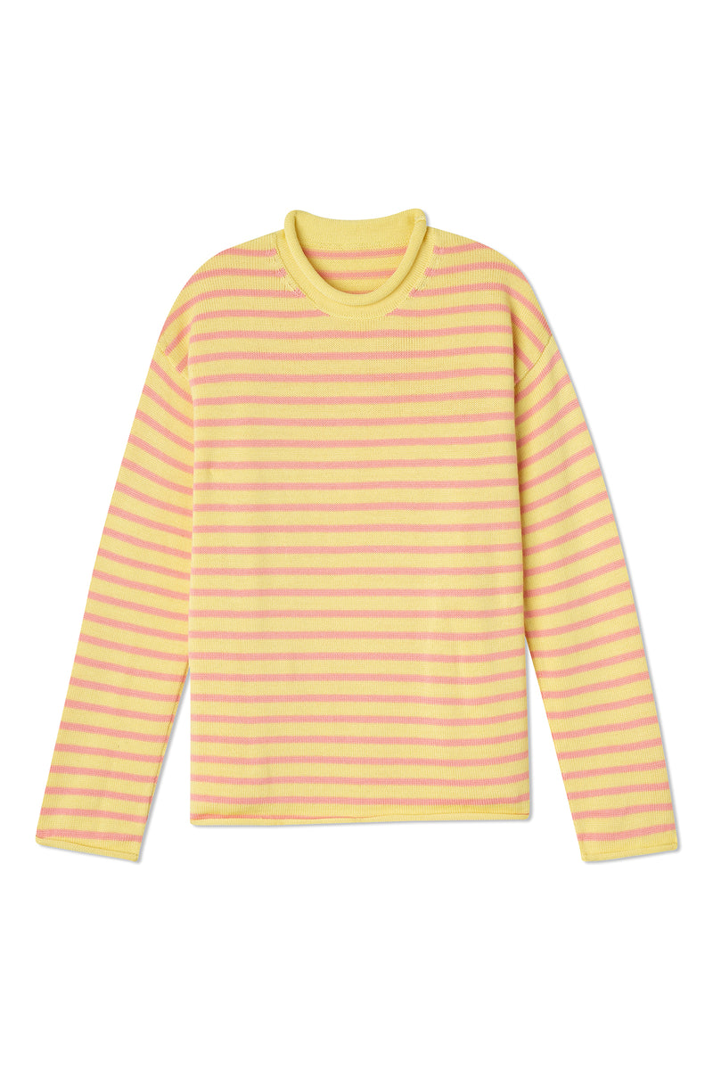 Nina Crewneck Striped Sweater