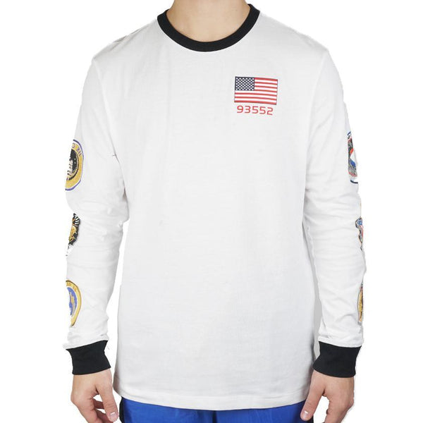 8a5d938fa0d654 Pg 3 x Long Sleeved Space Themed Tee White – Oqium
