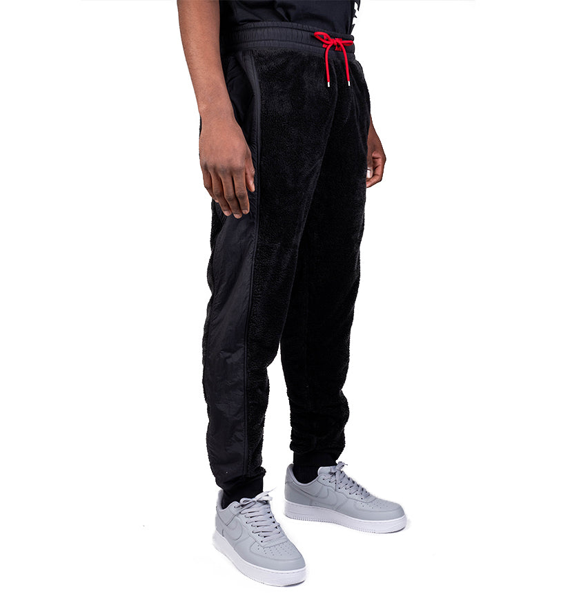 Jordan Wings of Flight Fleece Pant  Black/Gym Red/Gym Red