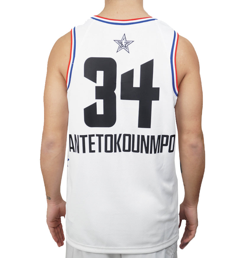 NBA Milwaukee Bucks Giannis Antetokounmpo All-Star Edition Swingman Jersey White 19