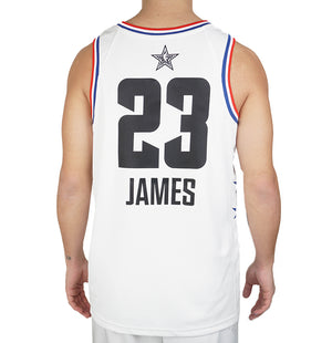 NBA LA Lakers Lebron James All-Star Edition Swingman Jersey White 19