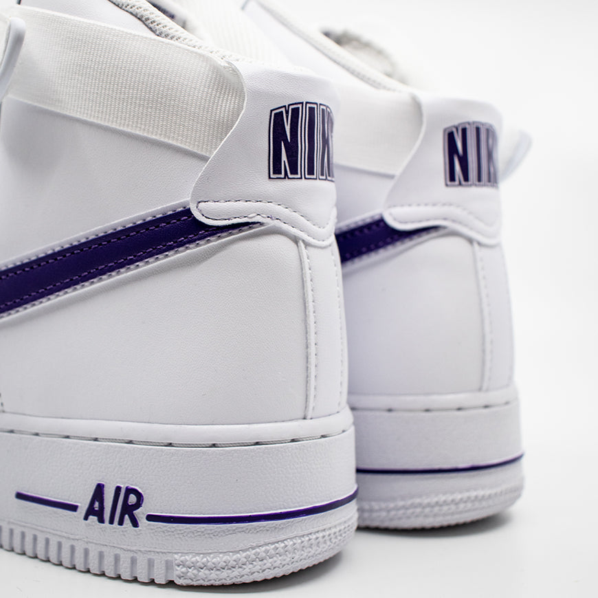 Air Force 1 High '07 3 White/White-Court Purple