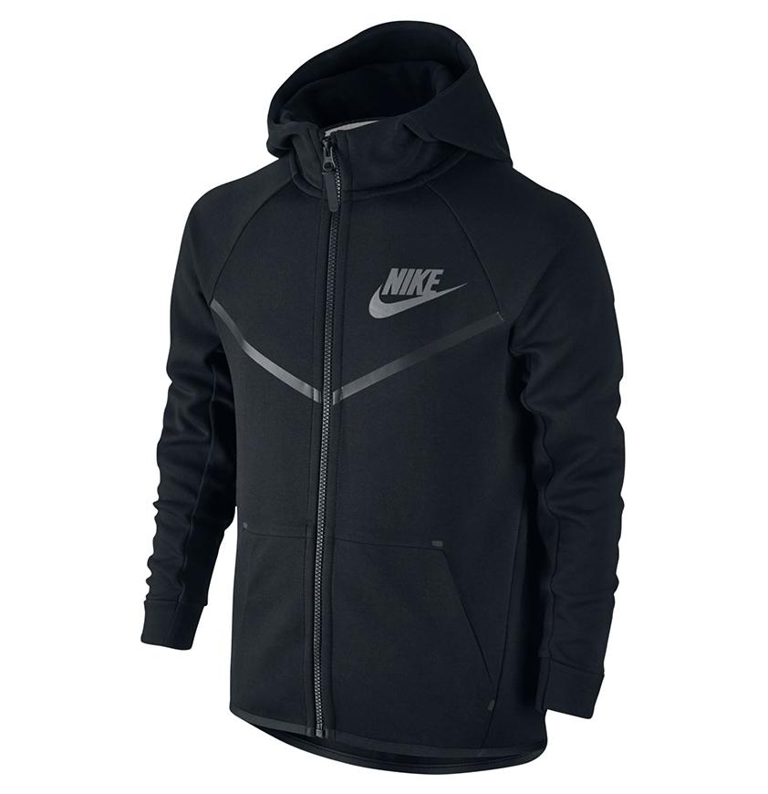 Nike NSW Kids Tech Fleece Windrunner Black
