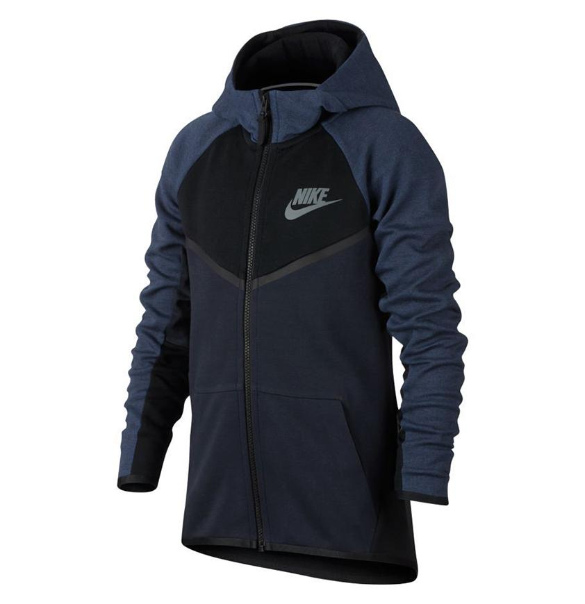 Nike KIDS NSW Tech Fleece Windrunner Navy
