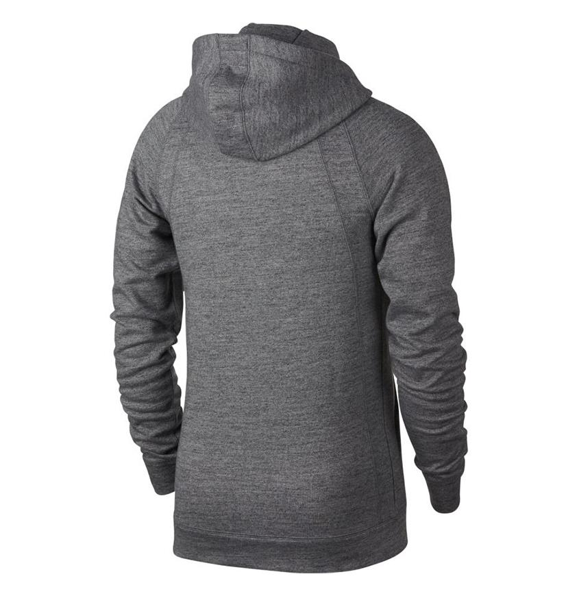 Wings Fleece FZ Hoody Grey