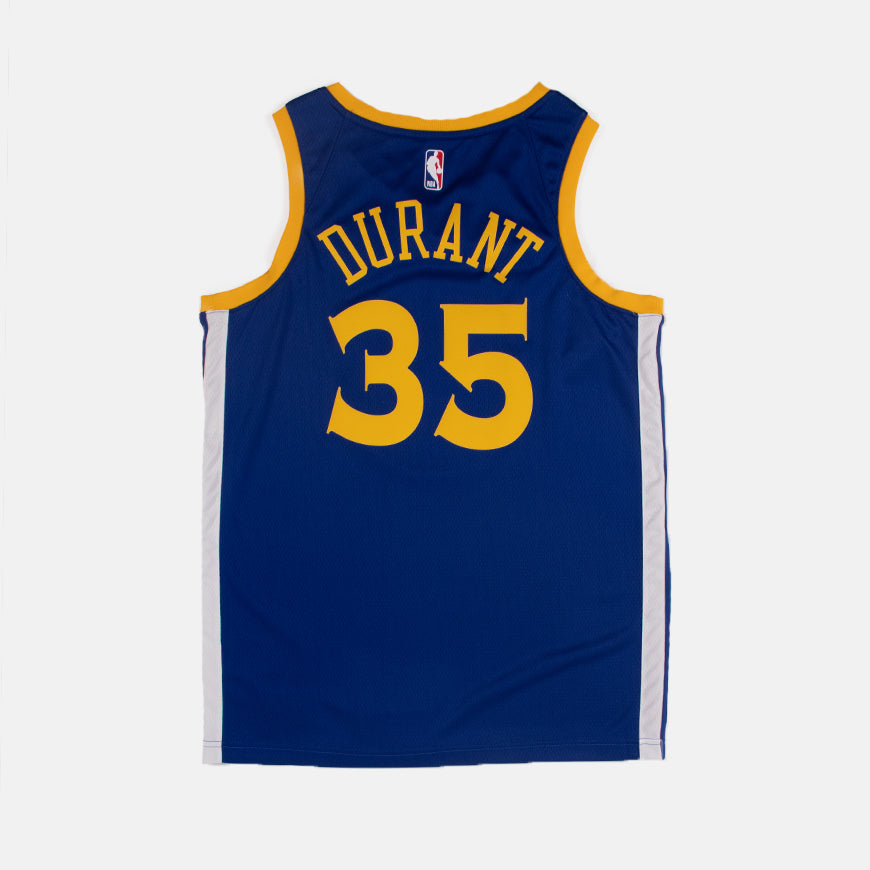 NBA Golden State Warriors Kevin Durant Swingman Jersey Icon Edition Rush Blue/Amarillo